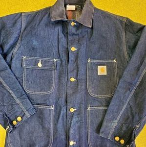Carhartt vintage blanket lined denim jacket